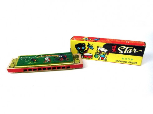 !Vintage-Children-Toy-Harmonica-Star